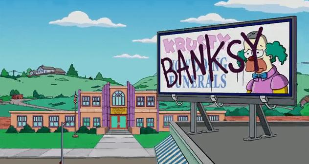 Ich jetzt auch: Banksy fummelt an den Simpsons rum | Awesome | Was is hier eigentlich los?