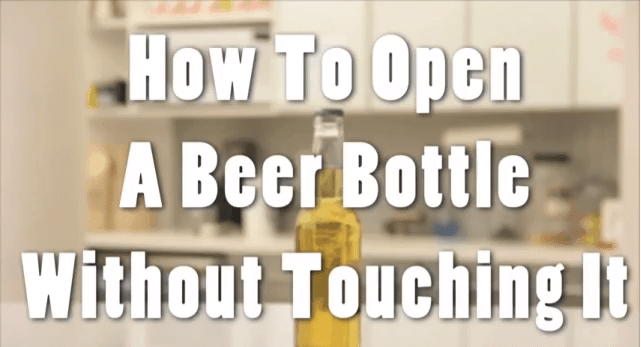 Wie man ein Bier auf macht, ohne es zu berühren