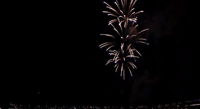 Feuerwerk rückwärts