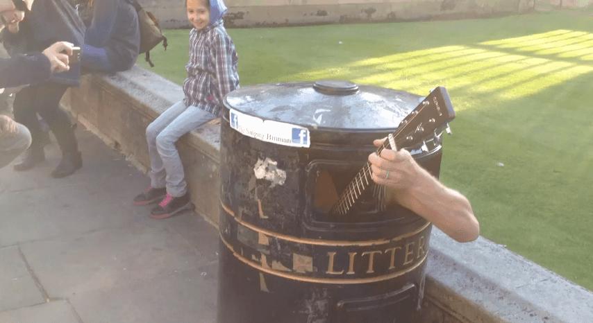 Musiker in der Mülltonne | Musik | Was is hier eigentlich los? | wihel.de