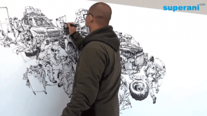 Kim Jung Gi zeichnet freihändig | Design/Kunst | Was is hier eigentlich los? | wihel.de