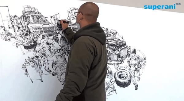 Kim Jung Gi zeichnet freihändig | Design/Kunst | Was is hier eigentlich los?