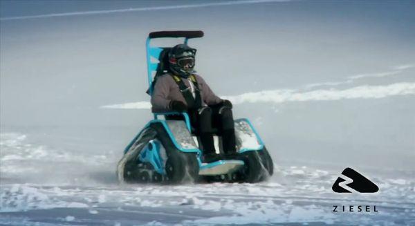 Der Rollstuhl für den Wintersport