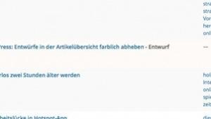 Wordpress-Tipp: Entwürfe in der Artikel-Ansicht besser hervorheben | Bloggerei | Was is hier eigentlich los? | wihel.de