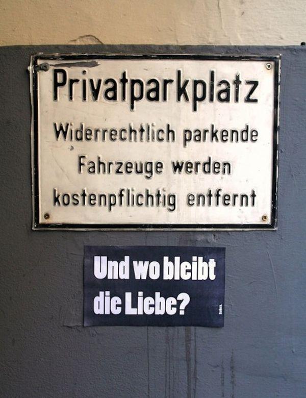 Barbara's Plakate gegen Verbote, Hinweise, Werbung und Idioten