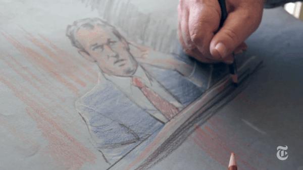 Der Gerichtssaal-Karrikaturist - Ein Videoportrait über Gary Myrick | Design/Kunst | Was is hier eigentlich los? | wihel.de