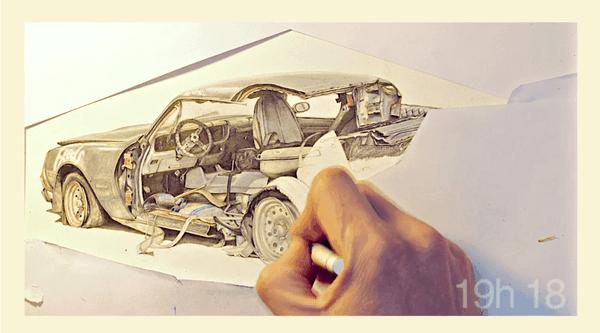 Timelapse: 30 Stunden einem Zeichner über die Schulter geschaut