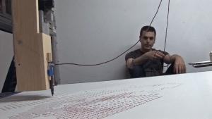 Ghost In The Machine - Ein Portrait mit eigenem Blut | Design/Kunst | Was is hier eigentlich los? | wihel.de