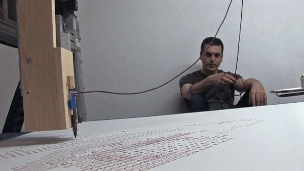 Ghost In The Machine - Ein Portrait mit eigenem Blut | Design/Kunst | Was is hier eigentlich los?