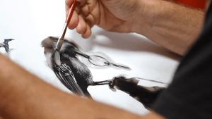 Steve Spazuk malt mit Feuer | Design/Kunst | Was is hier eigentlich los?