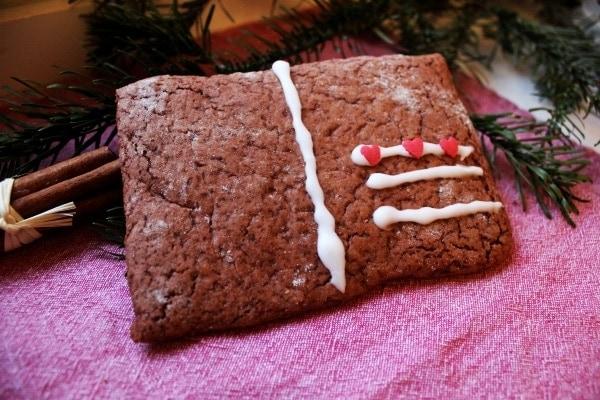 Line, back doch mal... Weihnachtspost aus Lebkuchen