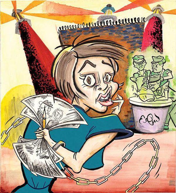 Gefängnisalltag in Illustrationen von Elana Pritchard