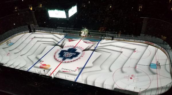 Klasse 3D-Projektions-Mapping beim Eishockey