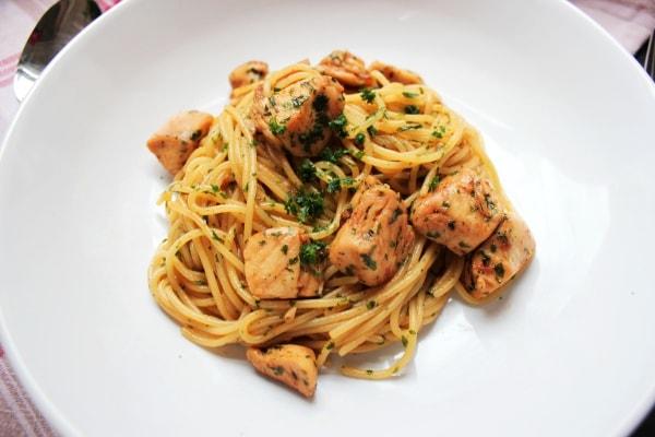 Line, koch doch mal... Asia-Hähnchen mit Spaghetti