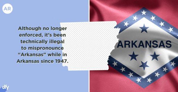 Merkwürdiges zu den amerikanischen Bundesstaaten