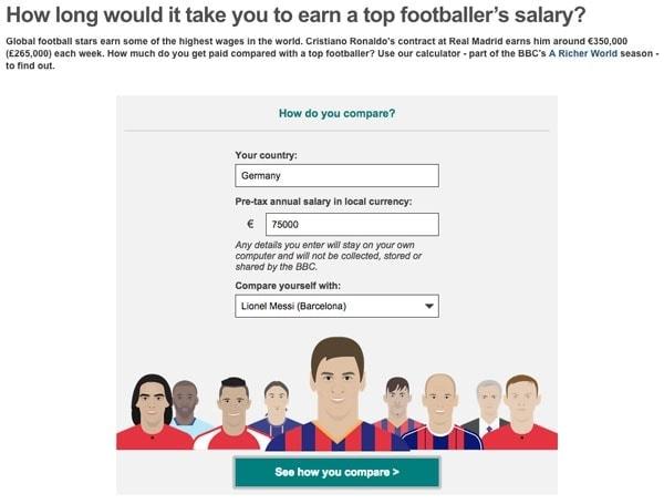 Euer Verdienst im Vergleich mit Fußballgehältern
