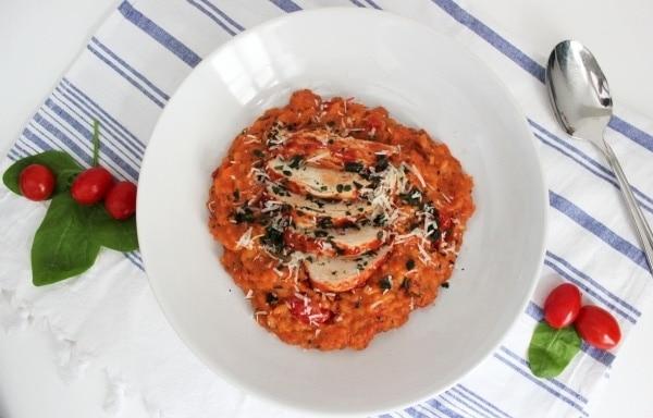 Line, koch doch mal... Dreierlei Tomatenrisotto mit Orangen-Hähnchen