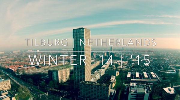 Mit einer Drohne über Tilburg