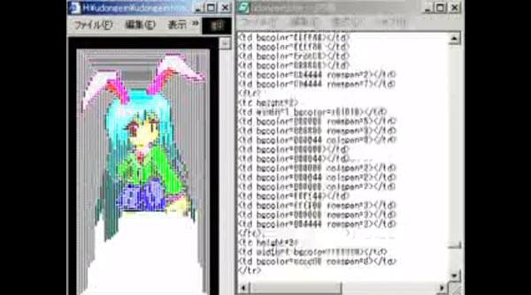 Mit einer HTML-Tabelle malen