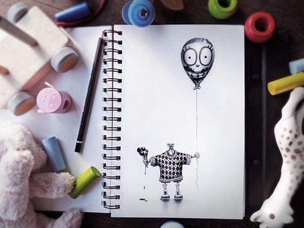 Bleistiftzeichnungen von PEZ | Design/Kunst | Was is hier eigentlich los? | wihel.de