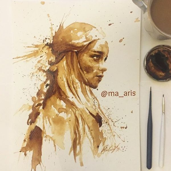 Coffee Paintings von Maria A. Aristidou | Design/Kunst | Was is hier eigentlich los? | wihel.de