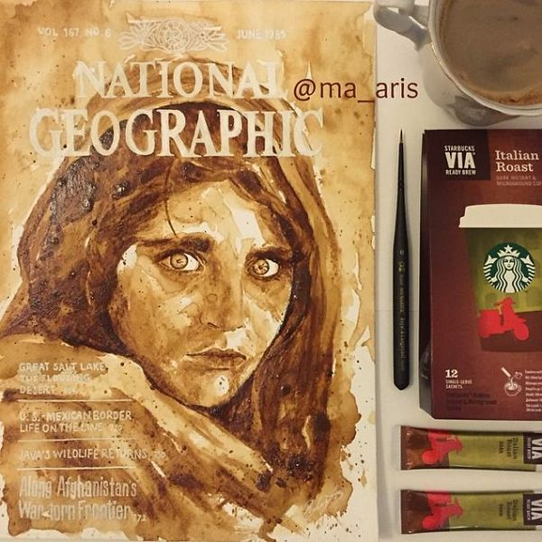 Coffee Paintings von Maria A. Aristidou