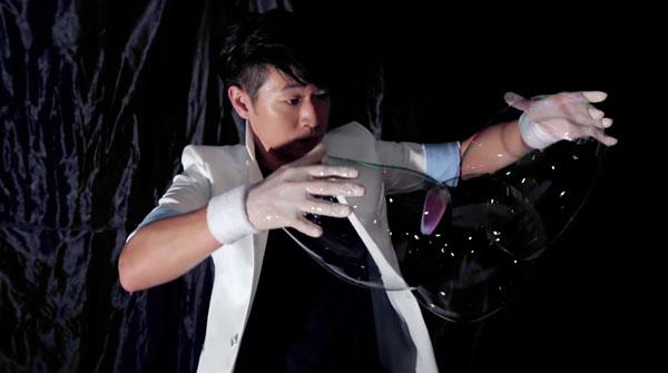Der chinesische Bubble-Artist Su Chung-tai