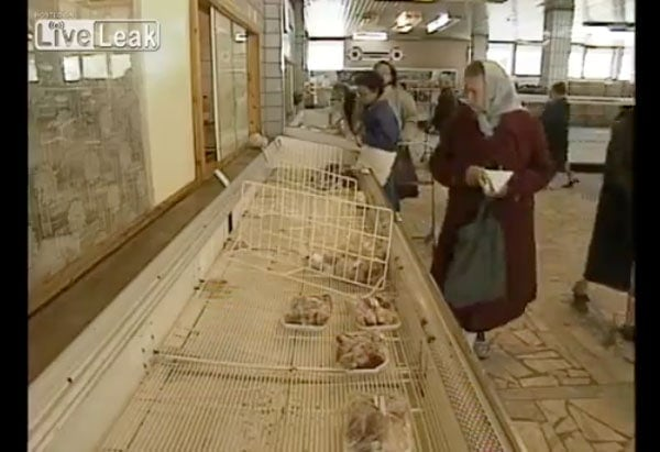 Ein russischer Lebensmittelladen 1986