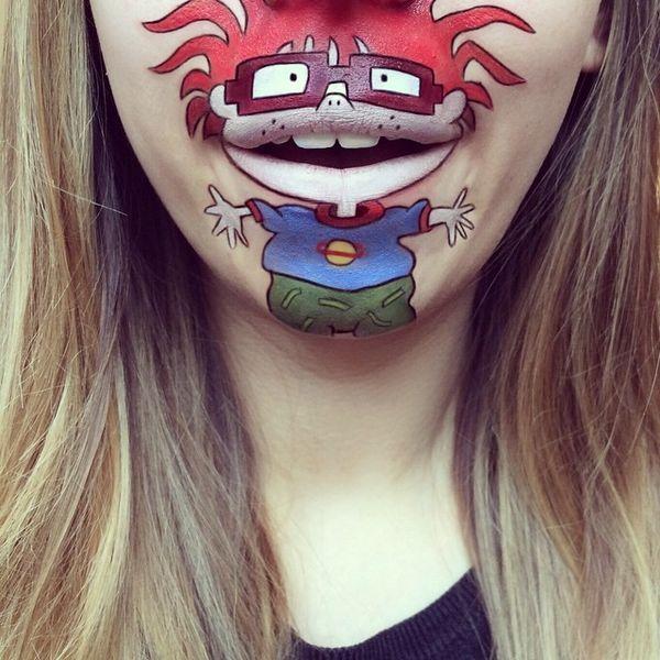 Viel Make-Up? Dann bitte nur so! Cartoon-Make-Up von Laura Jenkinson | Design/Kunst | Was is hier eigentlich los?