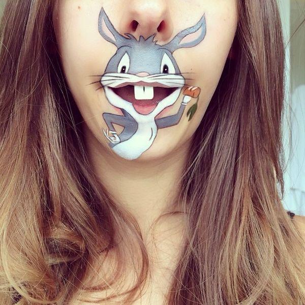 Viel Make-Up? Dann bitte nur so! Cartoon-Make-Up von Laura Jenkinson