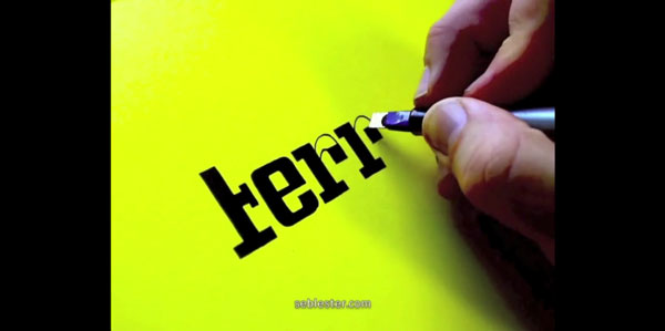 Perfekte Kalligraphie von Seb Lester