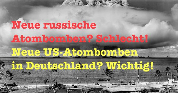 Die Atombomben-Doppelmoral der Bundesregierung | WTF | Was is hier eigentlich los? | wihel.de