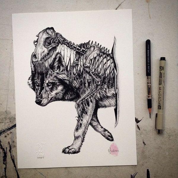 Düstere Skelett-Zeichnungen von Paul Jackson | Design/Kunst | Was is hier eigentlich los?