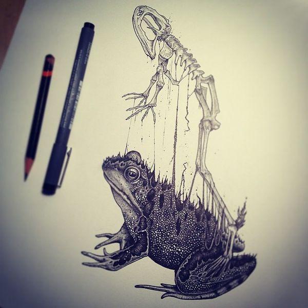 Düstere Skelett-Zeichnungen von Paul Jackson | Design/Kunst | Was is hier eigentlich los? | wihel.de