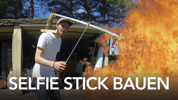 Fynn Kliemann und sein pneumatischer Selfie Stick