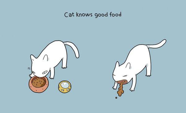 Katzen sind offenbar doch zu gebrauchen - Illustrationen von Landysh Akhmetzyanova | Design/Kunst | Was is hier eigentlich los? | wihel.de