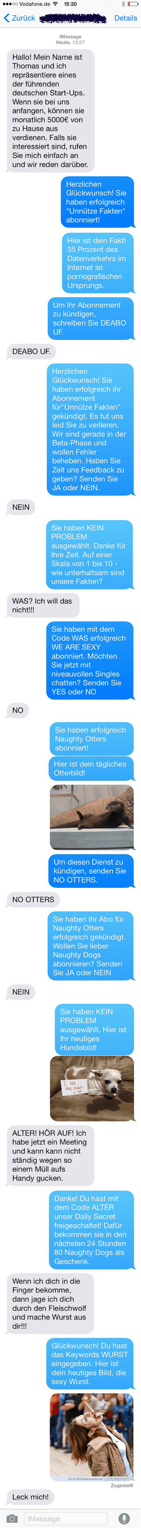 Der perfekte Umgang mit Abzock-SMS | Lustiges | Was is hier eigentlich los? | wihel.de