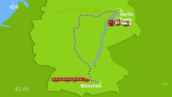 Innovation der Deutschen Bahn - Auto + Zug! Und ohne Zug !!!!111
