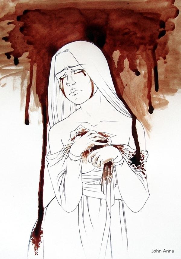 Mit Menstruationsblut gemalte Bilder von John Anna | Design/Kunst | Was is hier eigentlich los?