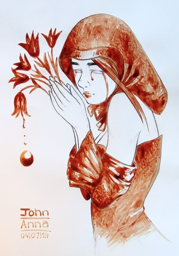 Mit Menstruationsblut gemalte Bilder von John Anna | Design/Kunst | Was is hier eigentlich los? | wihel.de