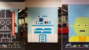 Büro-Verschönerung mit Post-Its Teil 2 | Design/Kunst | Was is hier eigentlich los? | wihel.de