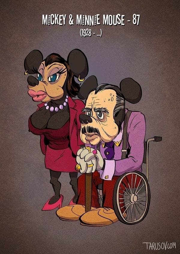 Cartoon-Charaktere aus unserer Kindheit heute - von Andrew Tarusov | Design/Kunst | Was is hier eigentlich los? | wihel.de