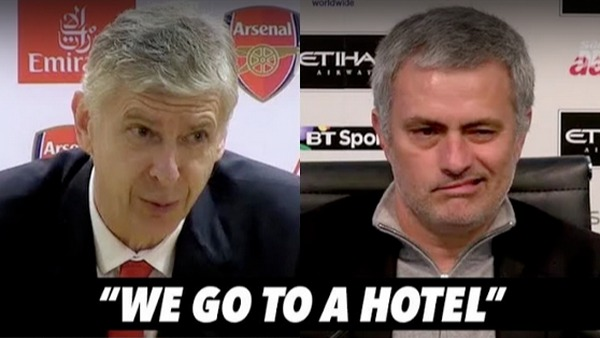 Jose Mourinho und Arsene Wenger in love