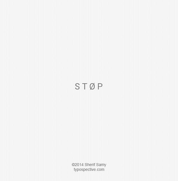 Typografie-Kunst von Sherif Samy