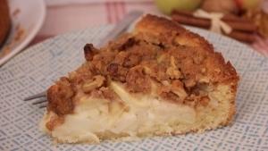 Line backt: Cremiger Apfel-Schmand-Kuchen mit Zimtstreuseln und Walnüssen | Line backt | Was is hier eigentlich los? | wihel.de