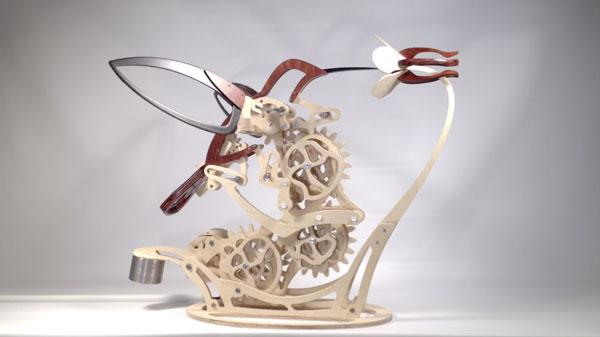 Nur ein kinetischer Holzkolibri von Derek Hugger | Design/Kunst | Was is hier eigentlich los? | wihel.de