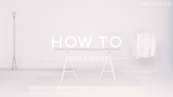 Der einzig richtige Weg, ein Hemd zu bügeln