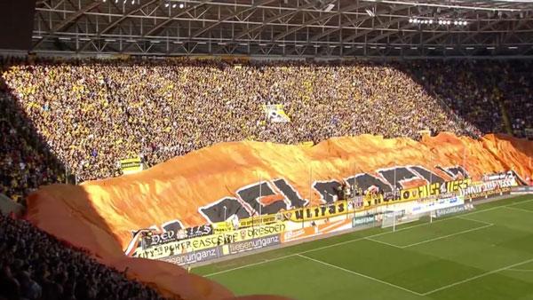 Dynamo Dresden und die größte Stadion-Choreographie in Europa