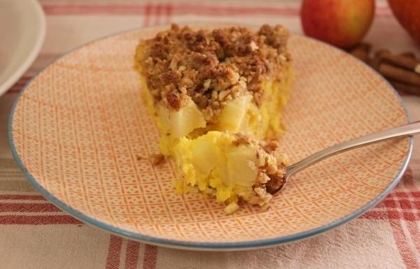 Line backt: Apfel-Kürbis-Kuchen mit Mandel-Streuseln | Line backt | Was is hier eigentlich los? | wihel.de