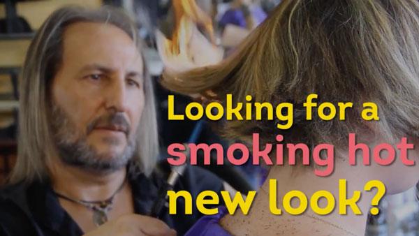 Alberto Olmedo schneidet Haare mit Schwert und Feuer | Handwerk | Was is hier eigentlich los? | wihel.de